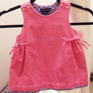Ralph Lauren | Baby Dress 24 months Pink Lined